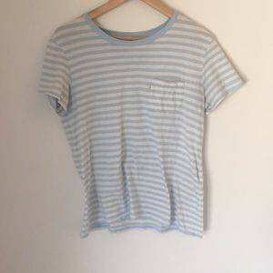 Levi's blue and white striped women's top